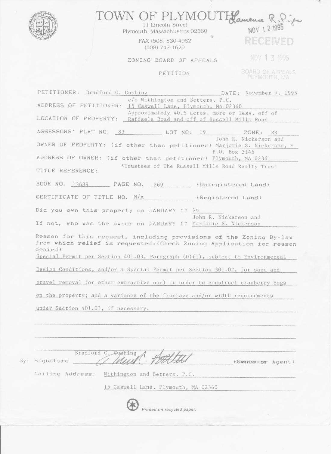 1995.11.07_ ZBA petition 2712
