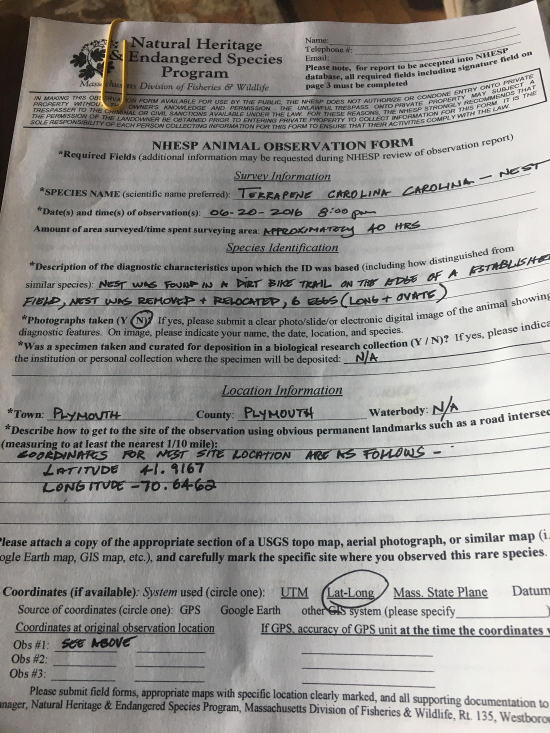 Crane_NHESP Report April 2017IMG_5133